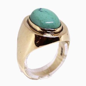 14kt Gold Ring with Turquoise Stones from ESC