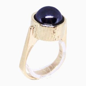 14k Gold Ring Decorated with a Blood Stone from KVA