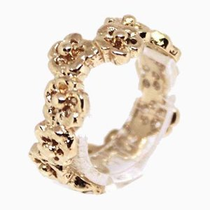 14kt Gold Ring Decorated with Floral Motifs