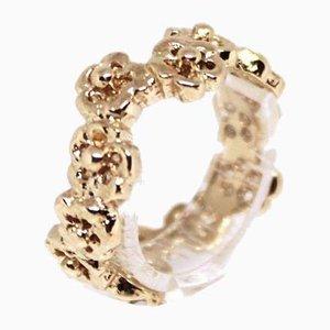 Ring aus 14kt Gold mit floralen Motiven