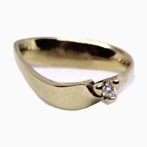 14kt Gold Ring mit Brilliant