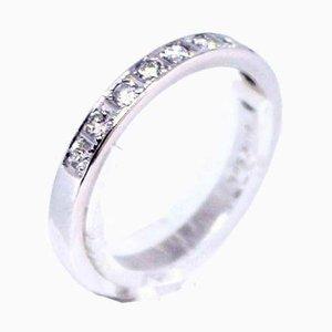 Bague en Or Blanc 14 Carats Décoré avec 10 Diamants de GIFA