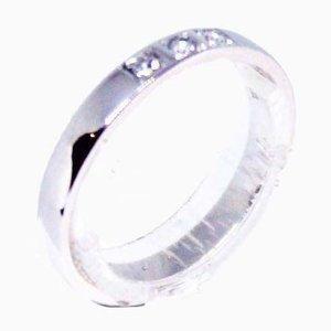 14kt Ring in Weißgold mit 3 Brillanten verziert