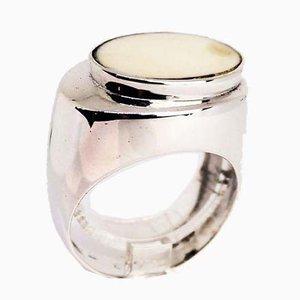 925 Sterling Silber Ring in Weiß und Aqua von CA