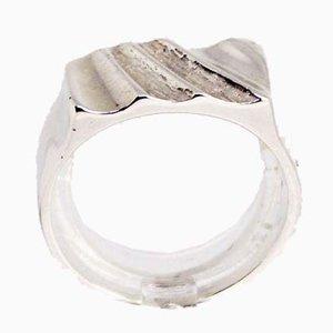 Anillo simple de plata esterlina 925 de SH