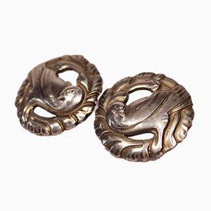 925 Sterling Silber Nr. 66 Ohrringe von Georg Jensen, 2er Set