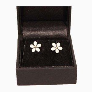 925 Sterling Silver & Enamel Earrings in the Shape of Flowers from Ale, Set of 2