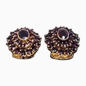 925 Gold-Plated Ear Clips Decorated with Grenades, Set of 2
