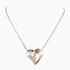 Pendant in the Shape of a Heart in Silver from SJ