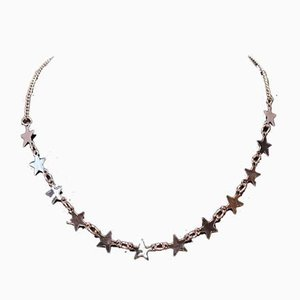Necklace Decorated with Stars in Silver
