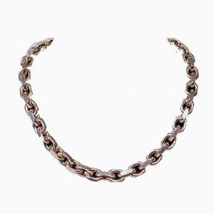 Collar de cadena de anclaje en plata de ley 925