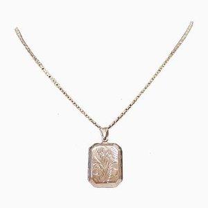 Collana con medaglione in argento sterling 925
