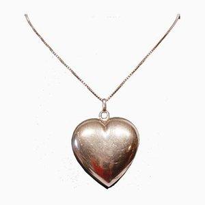 Lámpara colgante grande en forma de corazón de plata de ley 925 de Hjerte