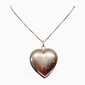 Large Pendant in the Shape of Heart in 925 Sterling Silver by Hjerte
