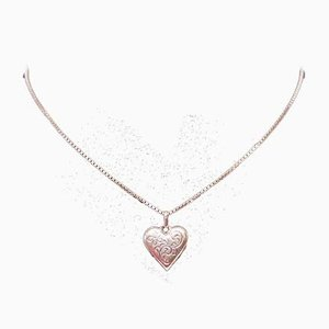 Small Pendant in the Shape of a Heart in 830 Silver