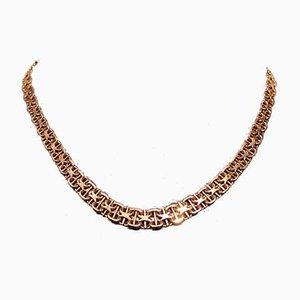 X Rod Halskette aus 8 kt Gold