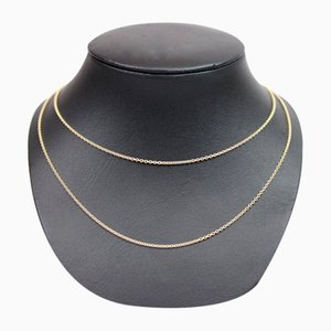 Round Anchor Chain Necklace in 14kt Gold