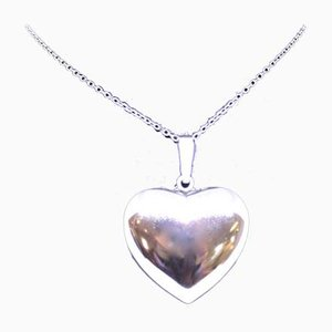 835 Silver Necklace with Heart-Shaped Pendant in 925 Sterling Silver from H.S
