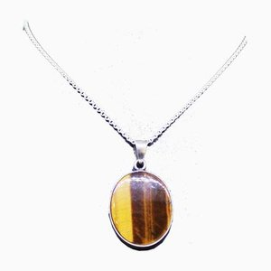 Pendant of 925 Sterling Silver and Tiger Eye from N.E. From