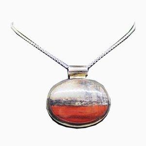 Lámpara colgante grande con piedra coloreada y plata de ley 925 de Nax A