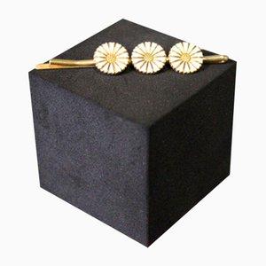 Vergoldeter 925 Sterlingsilber Haarspange mit Gänseblümchen von Flemming Lund