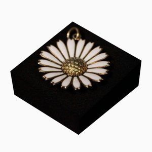 925 Sterling Silver and Enamel Daisy Pendant by Ka.La