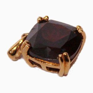 Single Pendant with Black Stones and Gold-Plated 925 Sterling Silver