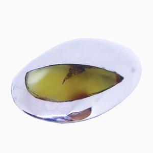 Spilla in argento e ambra