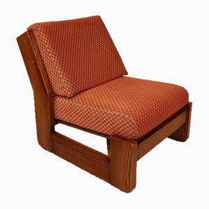 Vintage Elm Fireside Chair, 1970s