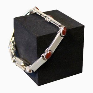 Bracelet in 925 Silver with Camelians