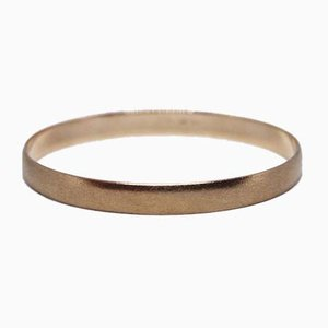 Matt and Slim Bangle of 14 ct Gold from SE