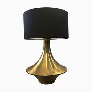 Mid-Century Modern Italian Brass Table Lamp in the Style of Willy Rizzo, 1960s