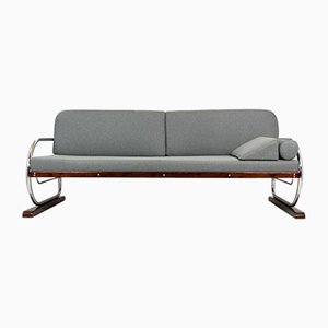 Bauhaus Tubular Chromed Steel Sofa from Hynek Gottwald, 1930s