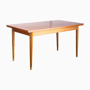French Scandinavian Style Teak Dining Table, 1960s
