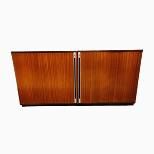 Mid-Century Office Cabinet with Tambour Doors, 1960s