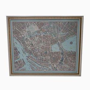 Impresión de fotografía de ciudad con mapa 3D vintage grande de Bollmann