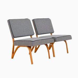 Vintage Sessel von Paul Bode für Deutsche Federholzgesellschaft, 2er Set