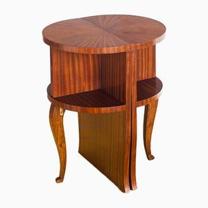 Vintage French Embryo Wood Nightstands, 1960s, Set of 2