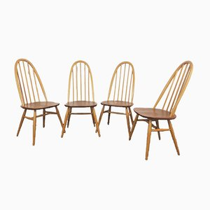 Quaker Dining Chairs by Lucian Ercolani for Ercol, 1960s, Set of 4