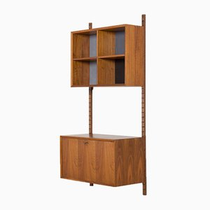 Wall Unit with Bar Cabinet & Bookshelves by Poul Cadovius for Cado, 1960s
