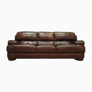 Danish Leather Sofa, 1970s