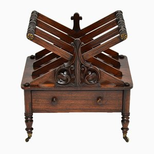 Antique Regency Rosewood Canterbury