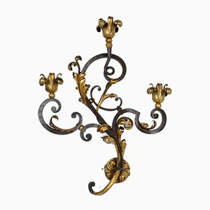 Wrought Iron Sconces, 1950s, Set of 2