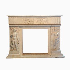 Repisa Adam & Eve italiana de mármol blanco, años 50