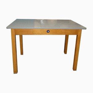 Mid-Century Wooden and Formica Kitchen Table with Drawer