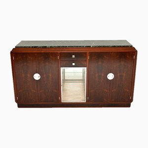 French Art Deco Rosewood & Marble Sideboard, 1920s