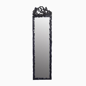 19th Century Carved Wood Mirror with Pediment from Forêt Noire