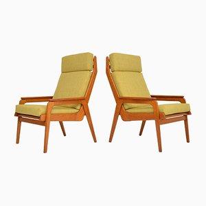 Niederländische Vintage Armlehnstühle aus Teak & Eiche, 1960er, 2er Set