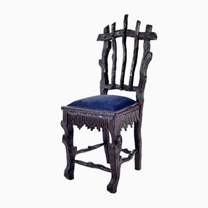 19th Century Carved Wood Dining Chairs from Foret Noire, Set of 6