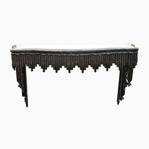 19th Century Carved Wood Wall Console from Foret Noire